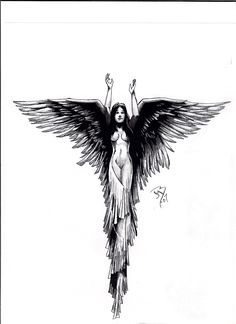Tattoo Art | angel tattoo by jeremiah222 traditional art drawings other 2007 2013 ...