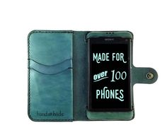 Xperia Z1 Compact Leather Wallet Case - Free Inscription