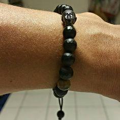 Not a jewelry kinda guy, but I will sport me some @maemaejewelry for men.. #blackonyxstone #tigereyestone #buddhaface