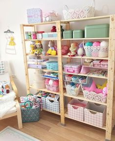 ― We R Memory Keepersさん( 「We just love this pretty craft room by Such pretty colors and containers. How does this…」 Study Room Decor, Craft Room Decor, Craft Room Storage, Kids Storage, Room Organization, Bedroom Decor, Home Decor, Craft Rooms, Organisation Ideas