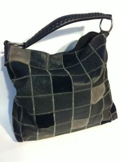 I love my Lucky Brand  Black And Grey Patchwork Hobo Shoulder Bag :)