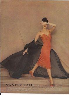 The perfect fashion foils for black: Sienna. Vanity Fair Lingerie, Retro Lingerie, Lingerie Models, Richard Avedon Photos, Richard Avedon Photography, 1960s Fashion, Vintage Fashion, Vintage Underwear, See Through Dress