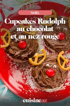 Préparez des cupcakes au chocolat pour la période de Noël ! Ici, c'est le renne Rudolph au nez rouge. Cette pâtisserie chocolatée fera craquer vos enfants. #cupcakes #patiserie #chocolat #noel #cuisine #recette Nutella, 20 Min, Macaron, Beef, Fruit, Voici, Red Nose, Favorite Recipes, Cupcakes Kids