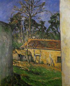 Impressionism-art.org  Paul CEZANNE «Cour de ferme à Auvers»