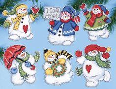 Todo con las flores: decorar, crear, degustar, cuidar...................: Navidad a punto de cruz