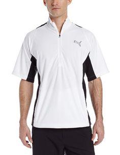 2bcfc073faf2 Puma Golf NA Mens 14 Zip Short Sleeve Storm Jacket White Medium Mens Golf  Jackets