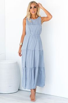 Little Sicily Dress - Blue Beautiful Casual Dresses, Spring Dresses Casual, Summer Dresses, Mob Dresses, Cute Dresses, Fashion Dresses, Summer Outfits For Moms, Simple Outfits, Relaxed Outfit