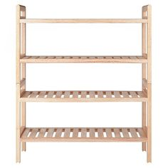 The Winsome Stackable Shoe Rack is perfect for the closet or family mudroom. These racks each feature two shelves of storage and can be stacked into a four-tiered rack to take up less space. Each shelf can hold up to three pairs of shoes or boots. Wooden Shoe Racks, Diy Shoe Rack, Boot Storage, Bench With Shoe Storage, Slatted Shelves, Wood Shelves, Shoe Rack Wayfair, Home Office, Shoe Storage Accessories