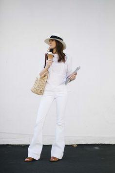 love the #allwhite look for summer