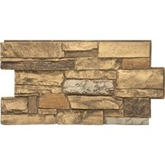 Urestone Ledgestone Desert Tan 24 in. x 48 in. Stone Veneer Panel - - The Home Depot Stone Siding Panels, Stone Veneer Siding, Faux Stone Siding, Stone Veneer Panels, Stone Flooring, Stacked Stone Panels, Faux Stone Panels, Faux Stone Sheets, Dental
