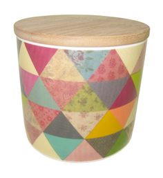 Porcelain canister Triangle - hardtofind.