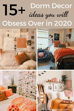 All of the dorm room decor ideas that you need for your freshman year! Figure out the right setup and all of your creative decorations. Whether you're looking for themes, organization, or just your dorm room essentials, this post is for you! Find the right color scheme, or find all of the products that you need for a boho theme or a minimalist theme. Also included are some bedding ideas to help you find the right aesthetic! #dormroom #college #aesthetic Girl College Dorms, College Dorm Rooms, College Hacks, Roommate Agreement, Cozy Dorm Room, Dorm Room Organization, College Aesthetic, Creative Decor, Dorm Decorations