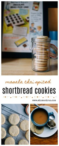 Masala chai spiced shortbread cookies - perfect for tea time!