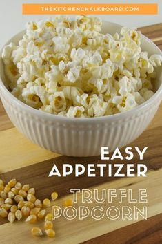 Looking for an Easy Thanksgiving Appetizer? - The Kitchen Chalkboard Looking for an Easy Thanksgiving Appetizer? - The Kitchen Chalkboard Great Appetizers, Thanksgiving Appetizers, Appetizer Recipes, Snack Recipes, Snacks, What Is Truffle, Truffle Popcorn, Popcorn Recipes, Truffles