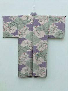 http://www.fujikimono.co.uk/fabric-japanese/secret-garden.html  ☆ New Arrival ☆ 'Secret Garden' #women's #silk #floral #vintage #kimono #mintgreen #purple #mist #pattern from #FujiKimono    #textile #Japanese #oriental #costume #cosplay #kawaii #HyperJapan #VintageFair #SecretGarden