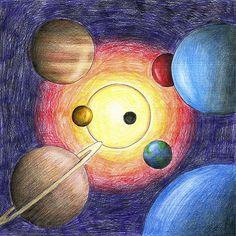 galaxy depth (colored pencil)