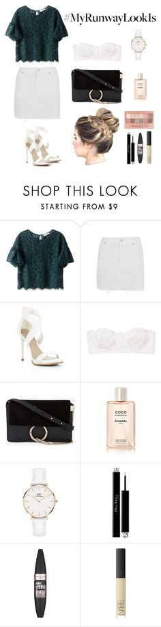 """My Runway Look Is..."" by miriamk2020 ❤ liked on Polyvore featuring Topshop, BCBGMAXAZRIA, Intimately Free People, Chloé, Daniel Wellington, Maybelline, Christian Dior and NARS Cosmetics"