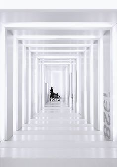 Gangway inside the BMW museum in Munich. Photo by Pixelwiese Photography.