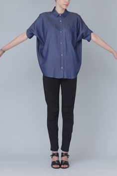 Zero + Maria Cornejo Symi Shirt (Dark Indigo)
