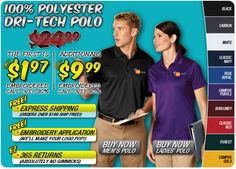 $1.97 Dri-Tech Polo | 24 Hours Only | Save Over 90% #custom #business #clothing