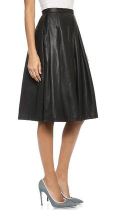 Vegan leather full skirt