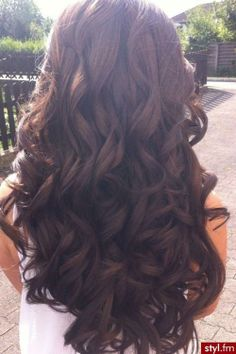 long brown curly hair