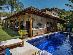 casa Paraty - Casa, terraço e piscina frente praia
