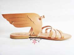 Hermes Sandals / Genuine Greek High Quality Leather by Twininas