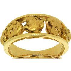 Custom Alaskan Gold Nugget Wedding Band Jewelry By Rush Fine