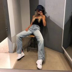 outfits to wear with air force ones black girl Celebrity Casual Outfits, Teen Fashion Outfits, Summer Outfits Women, Girl Outfits, Cute Outfits, School Outfits, Outfit Summer, Hypebeast Girl, Hypebeast Women