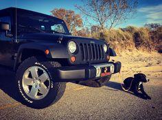 My Jeep Wrangler Unlimited Sahara and my dog.