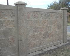 RhinoRock Precast Concrete fencing is more durable and stable than brick or stone fencing.  Future Outdoors installs RhinoRock.  The concrete can be stained to match any color your house is painted.  Call for a free estimate. 972-576-1600