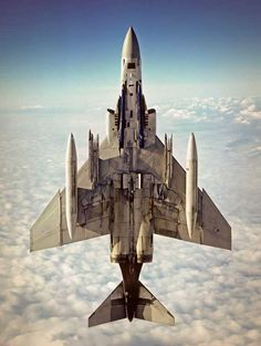 The classic F-4.The McDonnell Douglas F-4 Phantom II is a tandem two-seat, twin-engine, all-weather, long-range supersonic jet interceptor aircraft/fighter-bomber originally developed for the United States Navy by McDonnell Aircraft