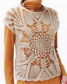 Tina's handicraft : crochet shirt pineapple stitch