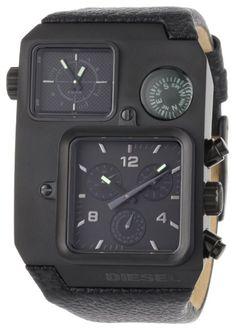 Diesel Mens DZ1318 Black Oversized SBA Multi-Analog Black Dial Watch: Watches: Amazon.com