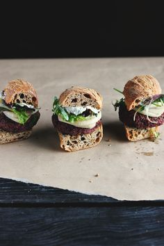 Lentil, Beet and Walnut Burgers with Quick Pickled Fennel + Sunflower Seed Aioli ⎮ happy hearted kitchen