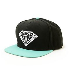 7139b770dfa The Diamond Brilliant snapback hat in black and Diamond blue is a must have hat  for