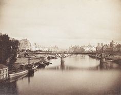 Gustave LE GRAY (1820-1884)  Pont du carrousel, vu du Pont Royal, Paris, vers 1859