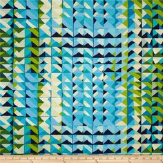 Folklorico Casa Azul Pool from @fabricdotcom  Designed by De Leon Design Group for Alexander Henry, this fabric is perfect for quilting, apparel and home décor accents.