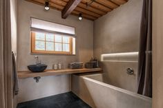 Find out all photos and details of Country house - barn, Czech Rep. Browse the complete collection of pictures and design drawings Prague, Interior Architecture, Bathtub, Barn, Country, Bathroom, House, Future, Inspiration