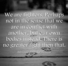 Chronic Pain: we are fighters