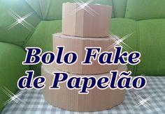 BASE PARA BOLO FAKE DE PAPELÃO PARTE 1