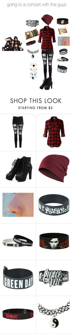 """""""going to a concert with the guys"""" by thebrokengirl ❤ liked on Polyvore featuring Glamorous, LE3NO, Accessorize and BLACKVEILBRIDES"""