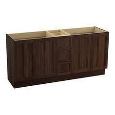 Kohler Damask Ramie Walnut 72-In Traditional Bathroom Vanity 99525-Tksd-1Wd