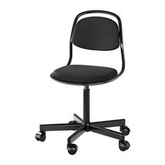 IKEA - ÖRFJÄLL, Junior chair, , High-quality density foam will keep the chair comfortable for many years to come.You sit comfortably since the chair is adjustable in height.The safety casters have a pressure-sensitive locking mechanism that keeps the chair safely in place when you stand up, and unlocks automatically when you sit down.
