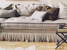 Fringe bottom sofa.  Always a favorite