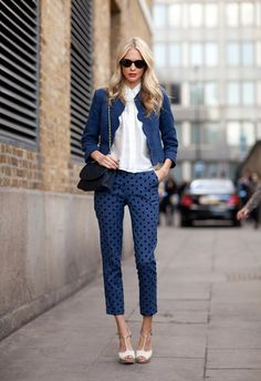 Topshop polka dot pants. Poppy.
