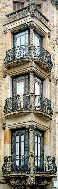 Windows and balconies of Paris, beautiful.