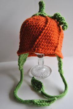 Nothin' says FALL like a crochet pumpkin hat!