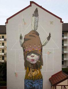 "Urban Street Art - ""The Last Mohican"", Etam cru"